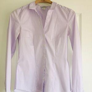 💁🏻♀️2/$17! H&M Lavender Stripes Button Down